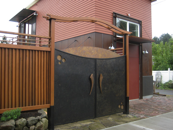 Pin puertas jardin portones cercos madera dura genuardis - Puerta de madera para jardin ...